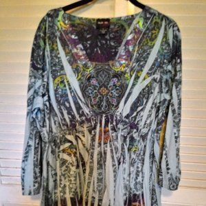 3/$20 STYLE & CO PULLON LONG BELL SLEEVE SZ LARGE